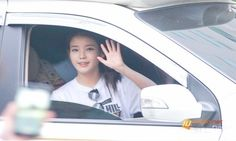 Photos of IU waving goodbye to her fans after 'Inkigayo' #allkpop #kpop #IU