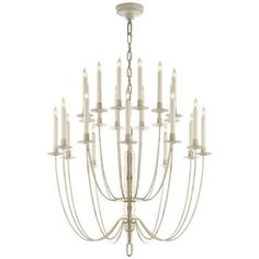 Buy the Visual Comfort TOB Belgian White Direct. Shop for the Visual Comfort TOB Belgian White Erika Candle Style Chandelier by Thomas O'Brien and save. Home Lighting, Modern Lighting, Lighting Design, Transitional Lighting, Entryway Lighting, Bedroom Lighting, Lighting Ideas, White Chandelier, Chandelier Ceiling Lights