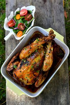 Cuban Roast Chicken: A Cuban-style Mojo marinade makes for the most delicious, succulent Whole Roast Chicken! Comfort food at its best :)