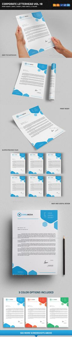 Corporate Letterhead Vol.18 with MS Word DOC/DOCX