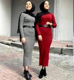 Oversized sweater dress hijab style – Just Trendy Girls: www. Oversized sweater dress hijab style – Just Trendy Girls: www. Modern Hijab Fashion, Fashion Mode, Muslim Fashion, Modest Fashion, Fashion Outfits, Emo Fashion, Fashion Trends, Casual Hijab Outfit, Hijab Chic