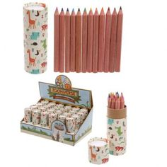 Fun Kids Set Of 12 Colouring Pencils In Cute Zoo Animals Design Tube & Industrial Novelty Toys, Novelty Gifts, Stationery Pens, Childrens Gifts, Gadget Gifts, Wooden Letters, Unusual Gifts, Coloring For Kids, Colored Pencils