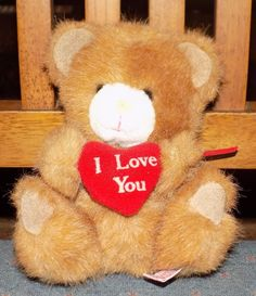 """6"""" RUSS BERRIE Soft & Suede I LOVE HEART PLush Kitty Cat  14 #RussBerrie"""