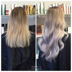 Här har vi ljusat upp håret i en balayage och satt i en hårförlängning som vi färgat in ljust askblond. Gillar ni det? 🌸 #hairextensions #lighterhair #longhair #rapunzelofsweden