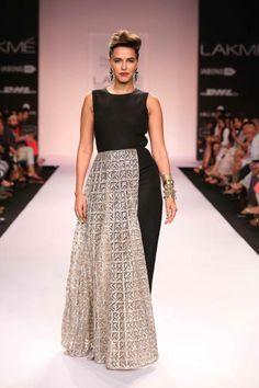 Neha Dhupia for Payal Singhal Lakme Fashion Week Summer/Resort 2014 #JabongLFW #LakmeFashionWeek