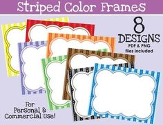 We hope you enjoy these 9 colorful frames in PNG format, sized for personal and commercial use absolutely * * F R E E * * PLUS - a BONUS SURPRISE FRAME! Please read the enclosed guidelines for use of these products. We at Oodles for Classroom Activities, Classroom Organization, Classroom Decor, Organizing, Cliparts Free, Colorful Frames, Borders And Frames, Paper Frames, Beginning Of School