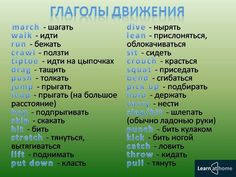 Глаголы движения / Неформальный Английский