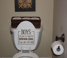 For a boys bathroom... May need this one day *sigh* Those dirty boys :-)