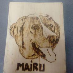 Seguimos probando con los pirograbados #mairu #pirograbado #dog #paletjauna