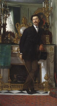 """Portrait of Eugène Coppens de Fontenay,"" 1867, by James Tissot"