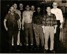 1956 Flint Michigan V-8 Engine Factory setup men.  Real Men. Flint Michigan, Real Men, Good People, Detroit, Engineering, History, Reading, Books, Travel