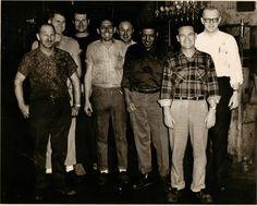 1956 Flint Michigan V-8 Engine Factory setup men.  Real Men.