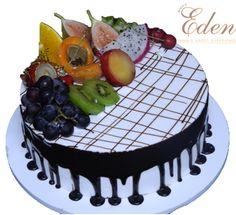 Mixed Fruit Chocolate Cake