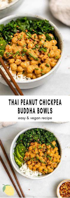Vegan Recipes Easy, Healthy Dinner Recipes, Vegan Dinners, Veggie Recipes, Whole Food Recipes, Cooking Recipes, Healthy Meal Prep, Healthy Chickpea Recipes, Easy Vegan Food