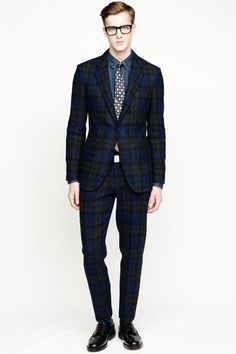 J.Crew plaid and navy for the #groom