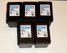 Ink Coupons For - HP 61 XL - 5 Black Ink Cartridges Lot - Empty - USED - NEVER BEEN REFILLED - http://www.inkcoupon.org/hp-61-xl-5-black-ink-cartridges-lot-empty-used-never-been-refilled/