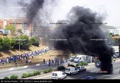 Corte de tráfico por huelga, Esplugues de Llobregat