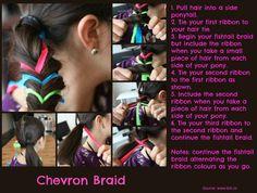 Colourful fishtail braid tutorial