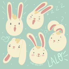Character design, children's illustration made by Nur Ventura. #bunnyillustration #childrensillustration #characterdesign #digitalillustration #procreate Digital Illustration, Pikachu, Character Design, Bunny, Portraits, Fictional Characters, Faces, Hare, Rabbit