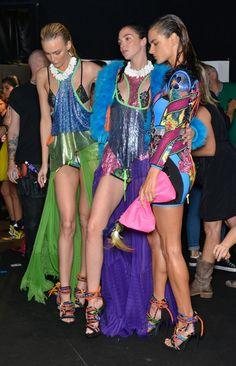 Mariacarla Boscono Photos - DSquared2 - Backstage - Milan Fashion Week SS16 - Zimbio
