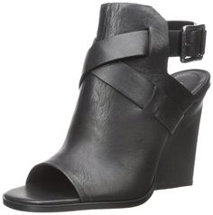 Calvin Klein Jeans Women's Malika Wedge Sandal ** New and awesome product awaits you, Read it now : Wedge sandals Wrap Shoes, Ankle Strap Shoes, Shoes Heels Wedges, Wedge Sandals, Shoes Sandals, Calvin Klein Jeans Women, Black, Tie, Polyvore