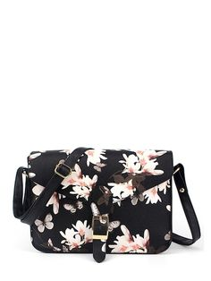83a84d7943c36 Flower Printed Crossbody Bag Shop at Stylizio for Clothing