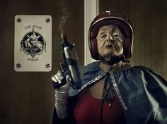 French photographer Sasha Godlberger cheers up his 91-year-old grandmother by taking pics of her as a superhero. So. Much. Awesome.