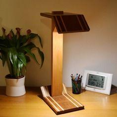 Cresini lampe de bureau en bois massif design haut de gamme