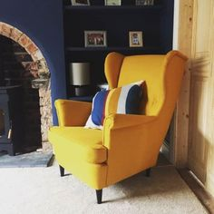 We love mustard and we love mustard yellow chairs. Occasional, cocktail, snuggle, armchair, we love them all!