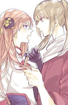Kagura and okita  Are my favourite couple