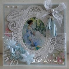 Sample Card - 80 Years - Category: Scrap Cards - Hobby Journal Your Hobby Website Hand Made Greeting Cards, Making Greeting Cards, Greeting Cards Handmade, 3d Cards, Easel Cards, Fancy Fold Cards, Folded Cards, Picture Cards, Photo Cards