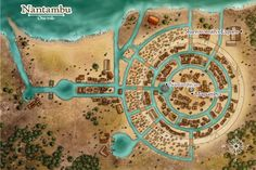 Heart of the Jungle - Nantambu Fantasy City Map, Fantasy Town, Fantasy World Map, Fantasy Places, Pathfinder Maps, Village Map, Rpg Map, Dungeon Maps, D&d Dungeons And Dragons