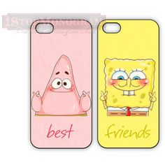 Sponge bob Best Friend cases for iPhone or Galaxy, Patrick and... ($32) ❤ liked on Polyvore featuring accessories, tech accessories, phone cases, phones, cases, electronics, iphone cover case, galaxy iphone case, clear iphone cases and iphone sleeve case