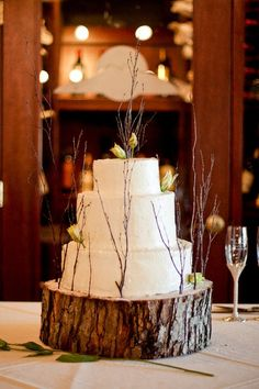 rustic chic cake decorating!