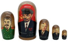 Matryoshka nesting doll From Lenin to Putin 5 pc | ArtMatryoshka - Toys & Hobbies on ArtFire