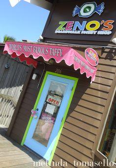 Zeno's Taffy & Candy Shop at John's Pass Village and Boardwalk, Madeira Beach Florida.  www.johnspassvillageandboardwalk.com
