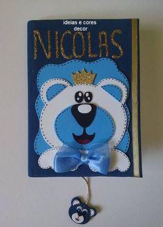 caderno decorado saída maternidade