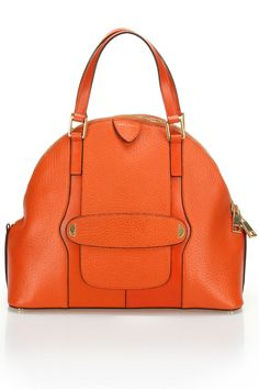 Marc Jacobs Crosby Satchel - you know I'm a sucker for an orange bag. Mode Orange, Orange Bag, Orange Handbag, Bags Online Shopping, Online Bags, My Bags, Purses And Bags, Jaune Orange, Designer Totes