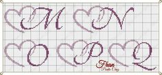 Cross Stitch Letters, Cross Stitch Heart, Cross Stitch Flowers, Plastic Canvas Letters, Plastic Canvas Stitches, Embroidery Alphabet, Paper Embroidery, Crotchet Patterns, Stitch Patterns