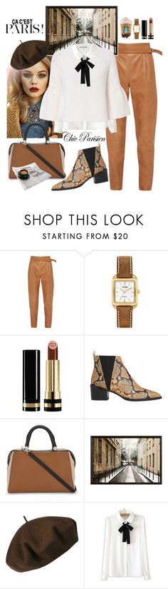 """""""chic parisien"""" by nineseventyseven ❤ liked on Polyvore featuring French Connection, Rettore, Citizen, Gucci, Whistles, MaxMara, Pottery Barn, Betmar, WithChic and Elizabeth and James"""
