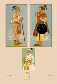 Traditional Male Dress of India #1 24x36 Giclee