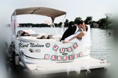 Then it was off to the reception at Devil's Lake Yacht Club, or so they thought! The boat didn't start! Artistic Wedding Photographers