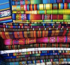 these textiles from a market in ecuador seem familiar - they look just like our twitter background!