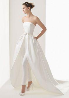 2014 Wedding Trend: 53 Elegant Bridal Pantsuits | HappyWedd.com