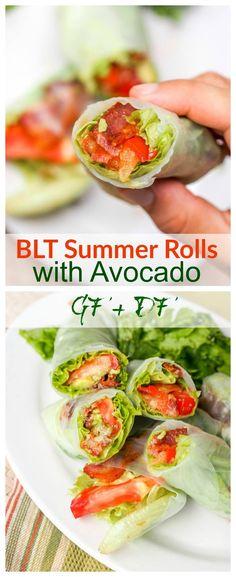 BLT Summer Rolls with Avocado {GF, DF}