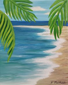 Relax on the Beach We will relax our worries away with each colorful stroke! There will be tasty treats provided by the Lebanon Tap Room. Complimentary beverages will be served. Each event includes… Canvas Painting Tutorials, Easy Canvas Painting, Diy Painting, Small Canvas Art, Diy Canvas Art, Beach Canvas Paintings, Aesthetic Painting, Guache, Beach Art