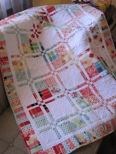 Disappearing four patch quilt I LOVE IT!!!.