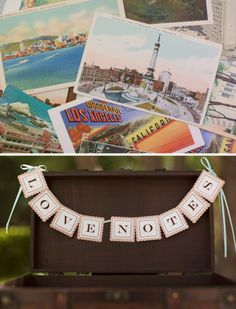 Have your guests leave messages on postcards, placed in an old trunk.