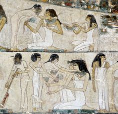 [EGYPT 29353]<br /> 'Funeral banquet in Rekhmire's tomb at Luxor.'<br…