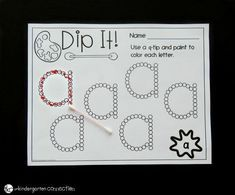 These print and play alphabet activities and centers are perfect for Pre-K and Kindergarten classrooms to explore letters! You join a special club whe. Abc Centers, Kindergarten Centers, Kindergarten Classroom, Kindergarten Crafts, Classroom Decor, Alphabet Crafts, Letter A Crafts, Alphabet Letters, Pre K Activities